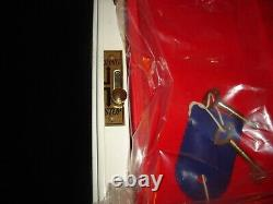 Vintage Keyed Jewelry Box Safe Alarm Double Combination Lock NOS New Old Stock
