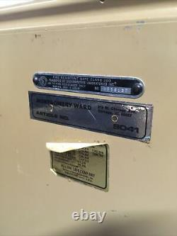 Vintage Montgomery Ward 9041 Series combanation Safe lock box fire proof