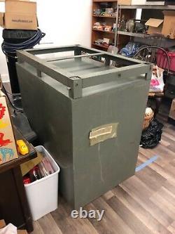 Vintage Mosler 302-402 Combination 2 Door Stacking Safe. Two Separate Locks