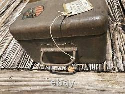 Vintage Protectall Lock Box Safe with Combination Lock WORKS! Heavy 1950s 1960s