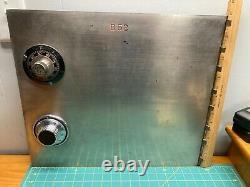 Vintage Safe Deposit Box Door B52 Combination lock door Heavy 1/2 Inch steel