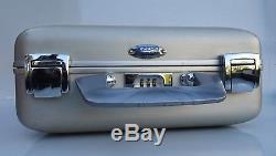 Vtg Zero Halliburton Aluminium Small Gold Hard Case Camera Gun Safe Combo Lock