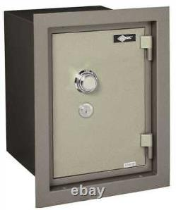 WALL SAFE U. L. LIST 1HR FIRE RATING WITH COMBINATION LOCK two tone grey