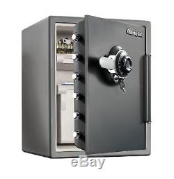 Water Resistant Combination File Safe with Dial / Combination/Key/Dual-Lock